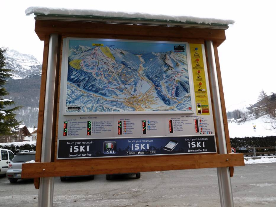 Orientation bormio cima bianca information boards for Meuble cima bianca bormio