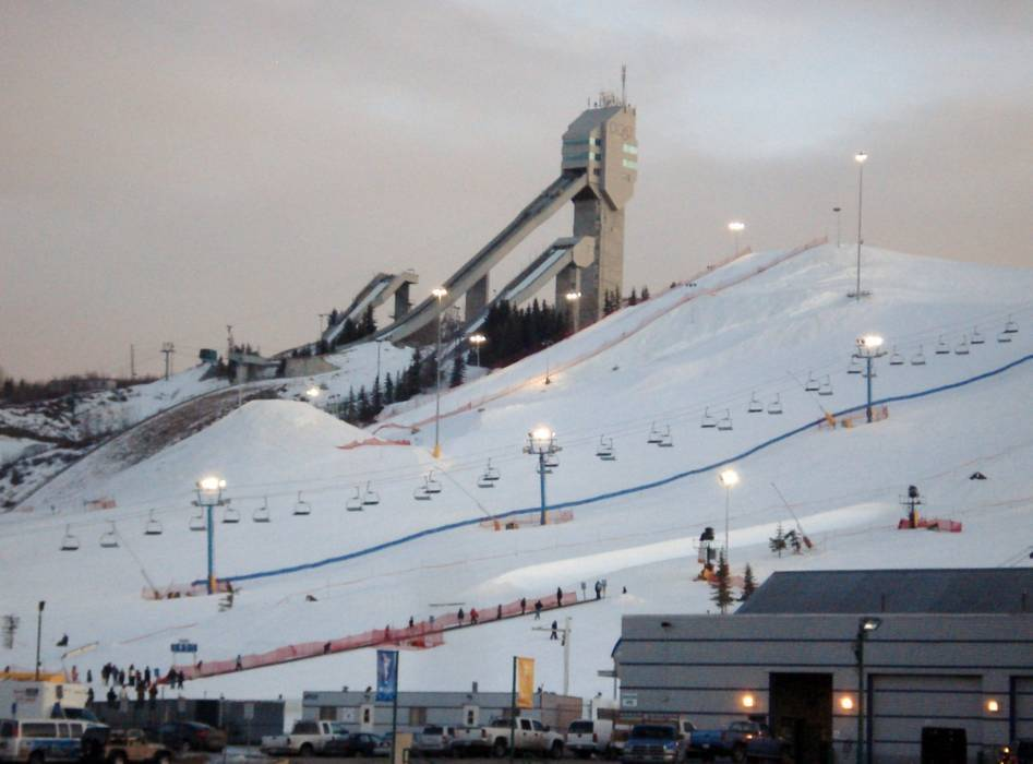 Regions Of Canada Map%0A View of the Canada Olympic Park with the ski jump