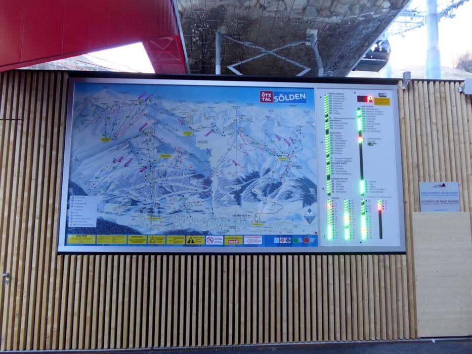The Ski resort Slden Skiing