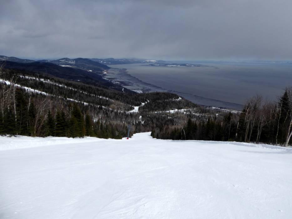 The ski resort Le Massif de Charlevoix