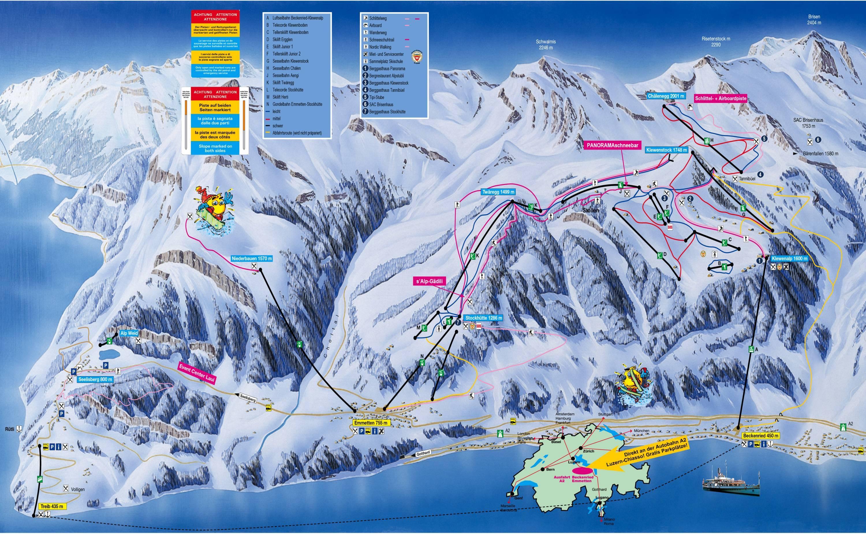 Trail map Klewenalp/Stockhütte – Beckenried/Emmetten