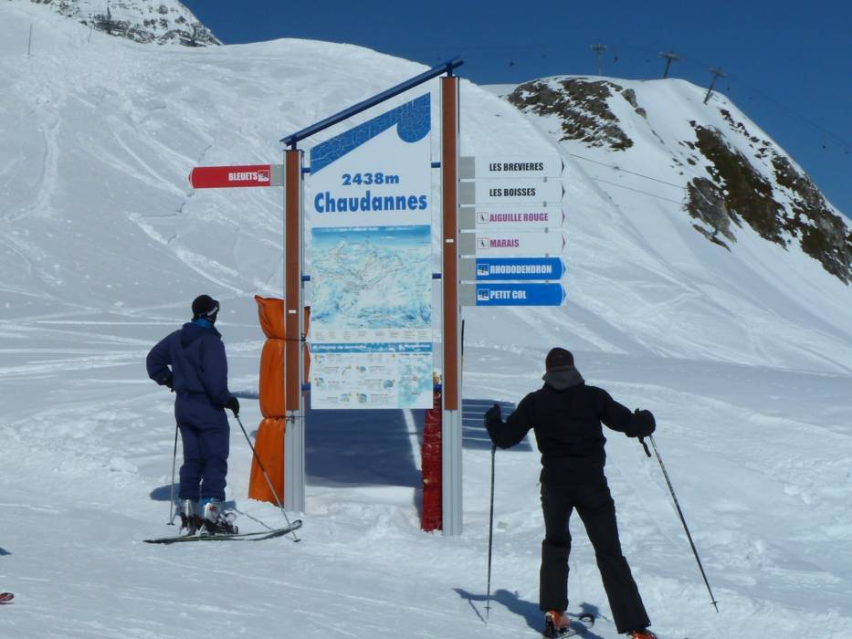 Orientation TignesVal dIsre information boards signpostings