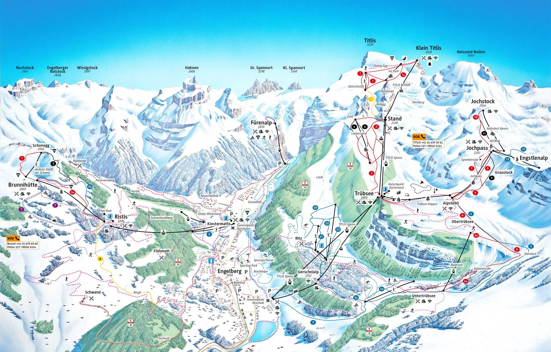 Trail map Titlis Engelberg