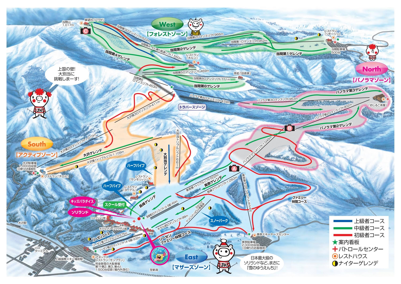 Trail Map Joetsu Kokusai - Joetsu map