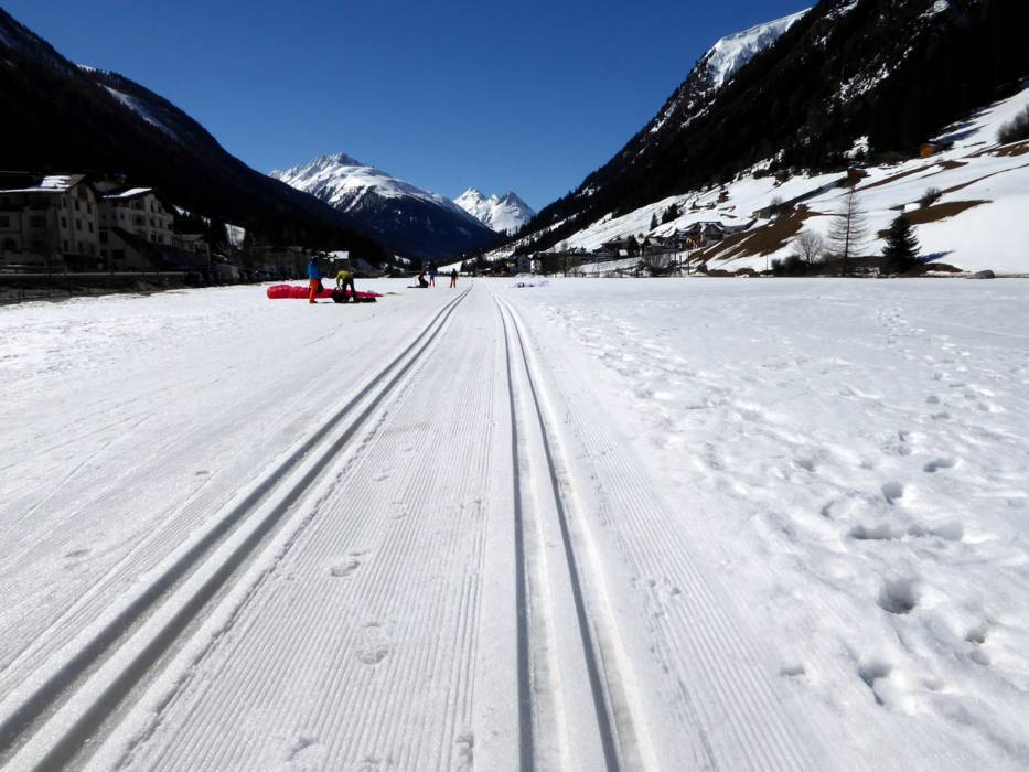 Crosscountry skiing IschglSamnaun Silvretta Arena crosscounty