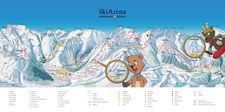 Trail map Gemsstock – Andermatt