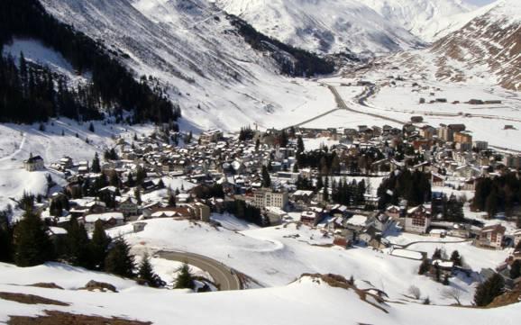 Andermatt accommodation offering at the ski resorts skiinskiout