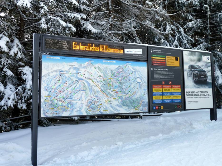 Orientation Arosa Lenzerheide information boards signpostings