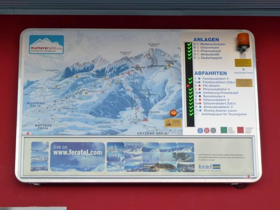 Ski resort Muttereralm u2013 MuttersGtzens Skiing