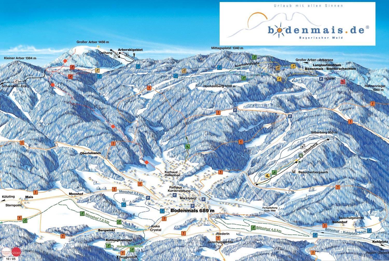 Trail Map Silberberg Bodenmais