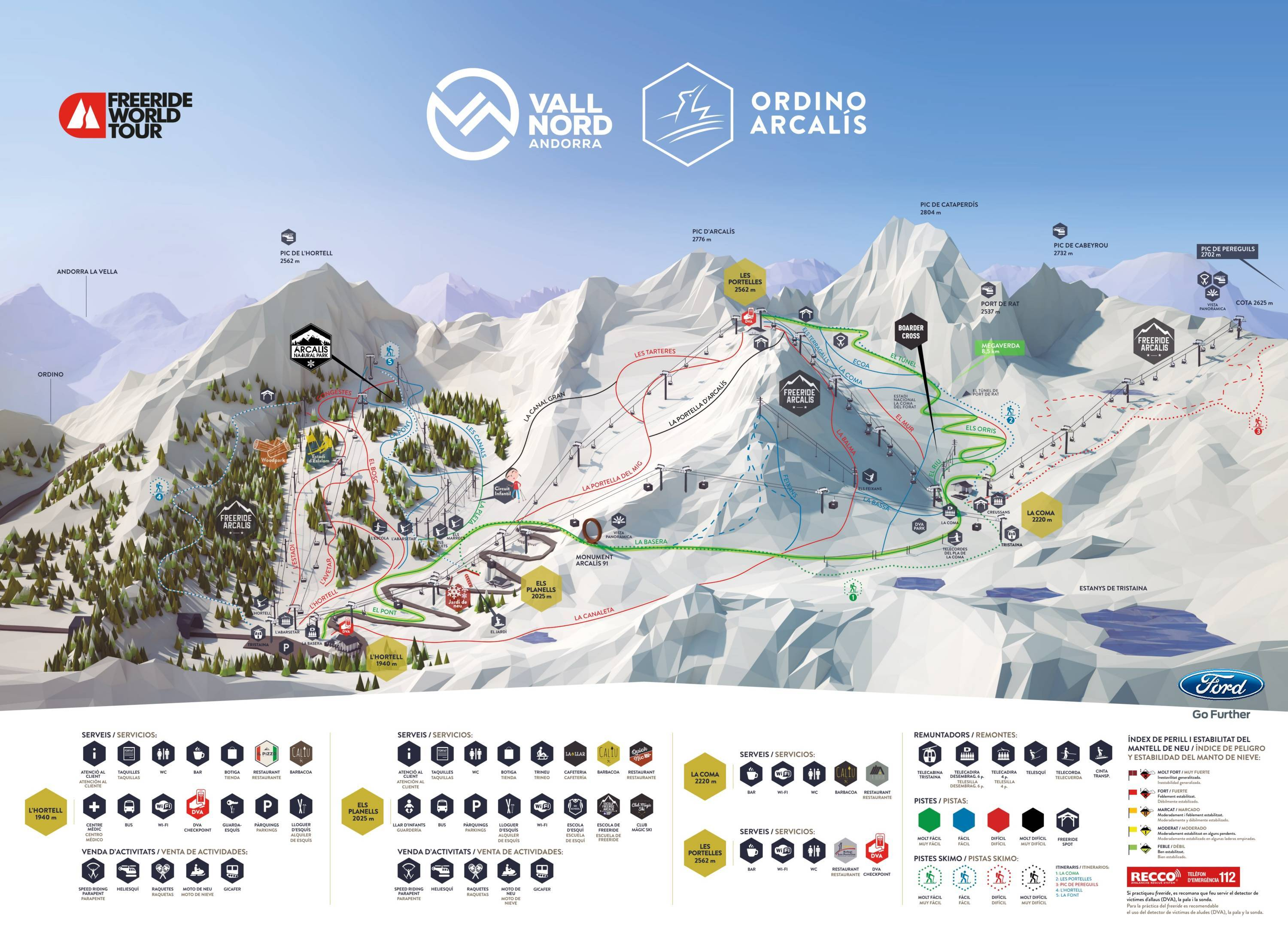Image result for arcalis piste map 2019
