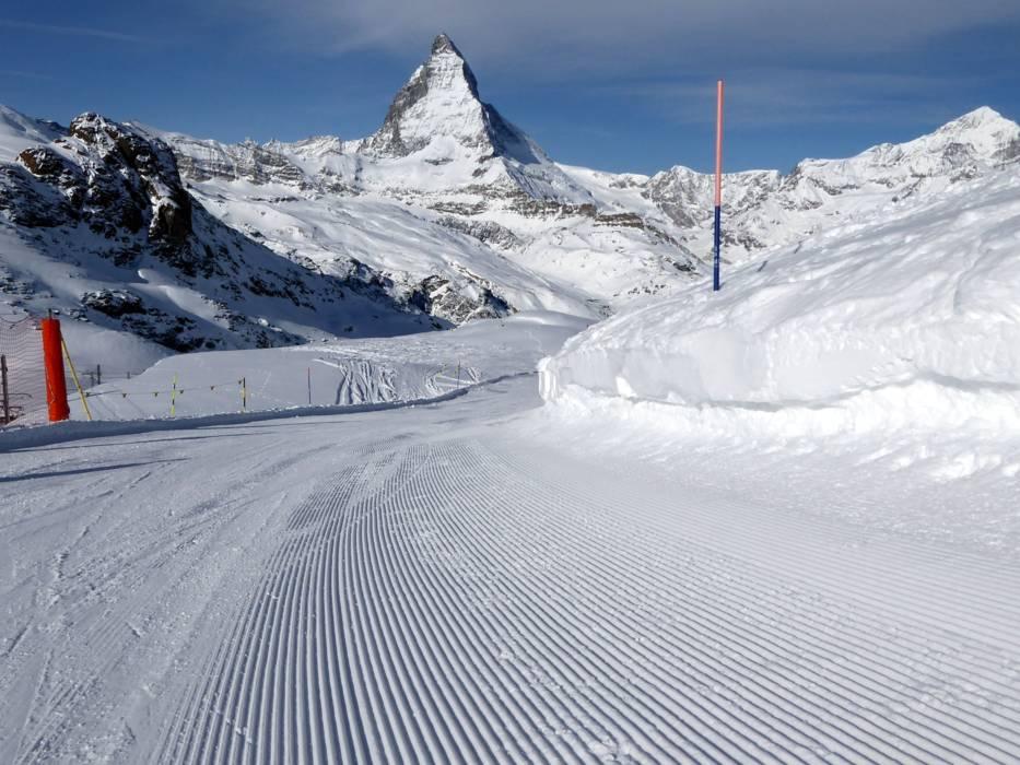 Slope preparation ZermattBreuilCerviniaValtournenche Matterhorn