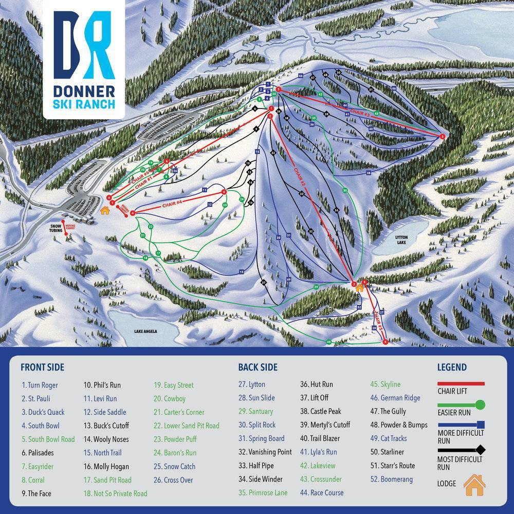 Map Southern Mexico%0A Donner Ski Ranch