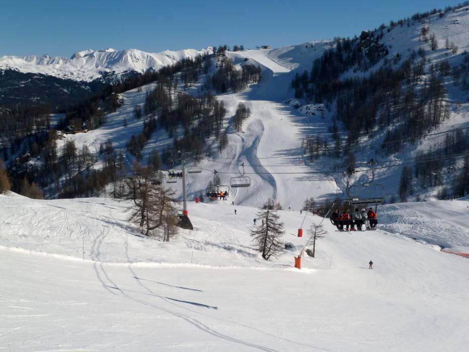 Ski Resort Serre Chevalier Briancon Chantemerle Villeneuve La