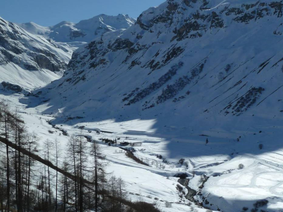 Crosscountry skiing TignesVal dIsre crosscounty trails Tignes
