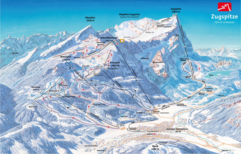 Trail Map Garmisch Classic Garmisch Partenkirchen