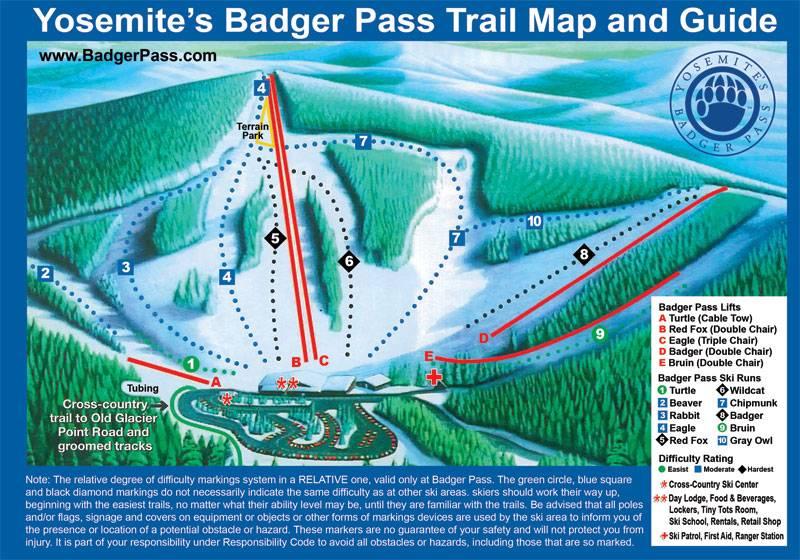 Trail map Badger Pass