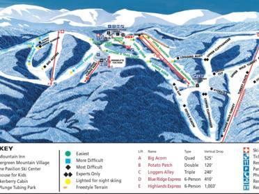 ski resorts virginia map Ski Resorts Virginia Skiing In Virginia