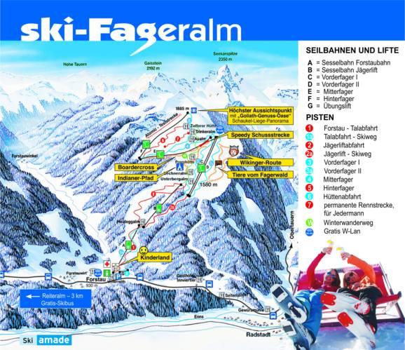Trail map eralm – Forstau on