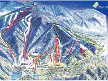 Ski resorts South Korea - skiing in the Republic of Korea on luxembourg mountains map, malaysia mountains map, cyprus mountains map, taiwan mountains map, hungary mountains map, north caucasus mountains map, sudan mountains map, tunisia mountains map, u.s. mountains map, sierra leone mountains map, finland mountains map, dominica mountains map, belize mountains map, bhutan mountains map, western us mountains map, aleutian islands mountains map, barbados mountains map, bangladesh mountains map, euphrates mountains map, liberia mountains map,