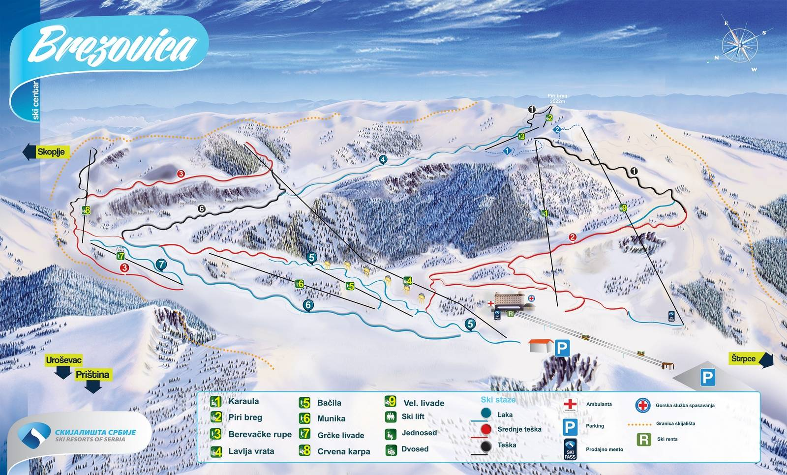 Trail Map Brezovica