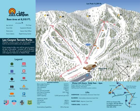 trail map las vegas ski and snowboard resort lee canyon trail map las vegas ski and snowboard