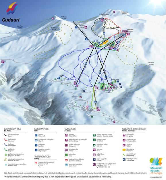 Trail Map Gudauri