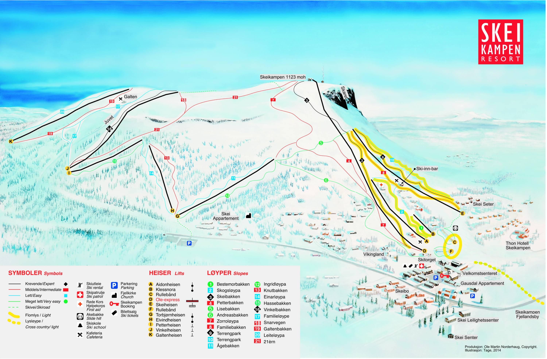 Trail Map Skeikampen Gausdal