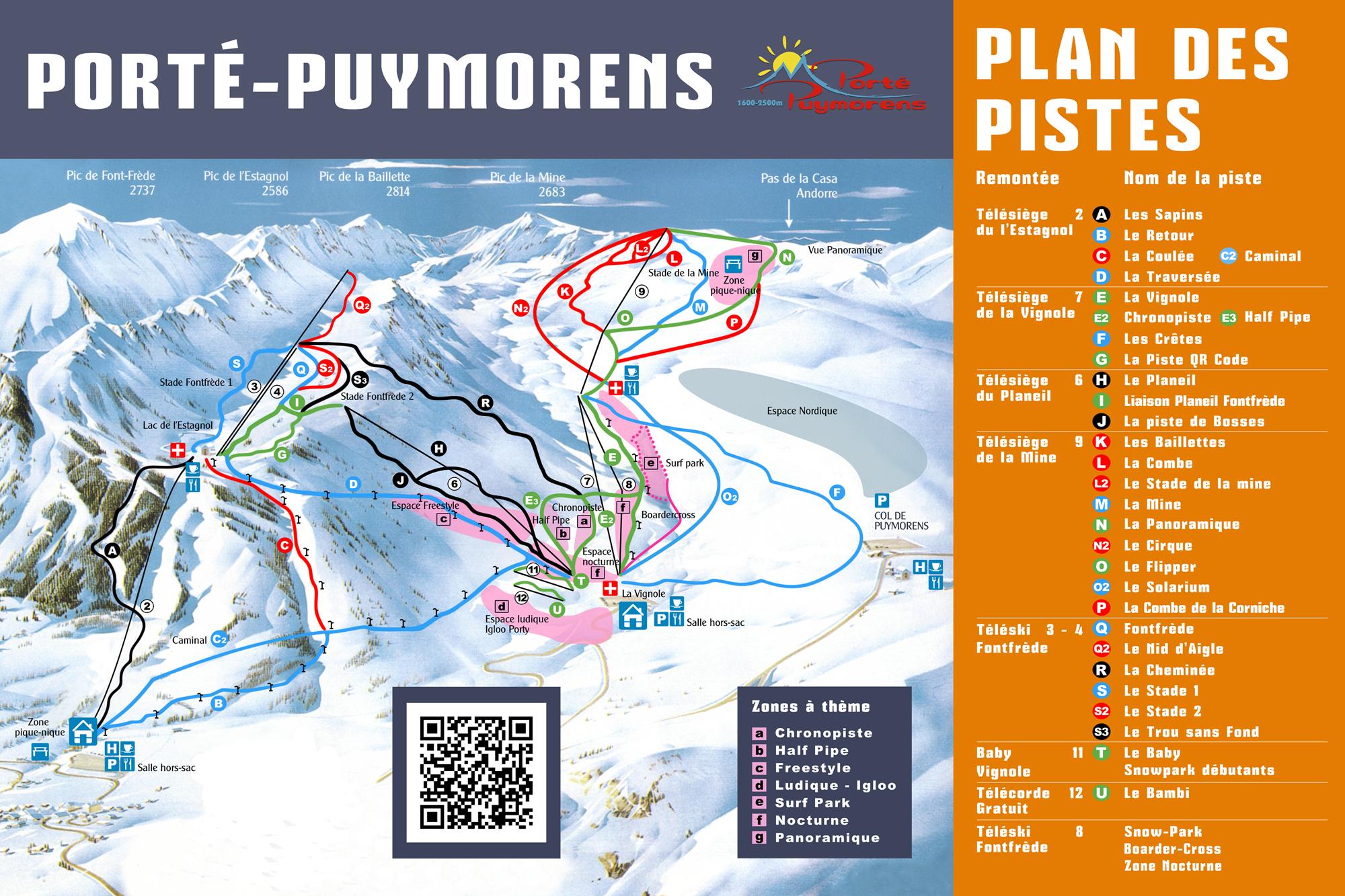 Trail map port puymorens for Porte puymorens