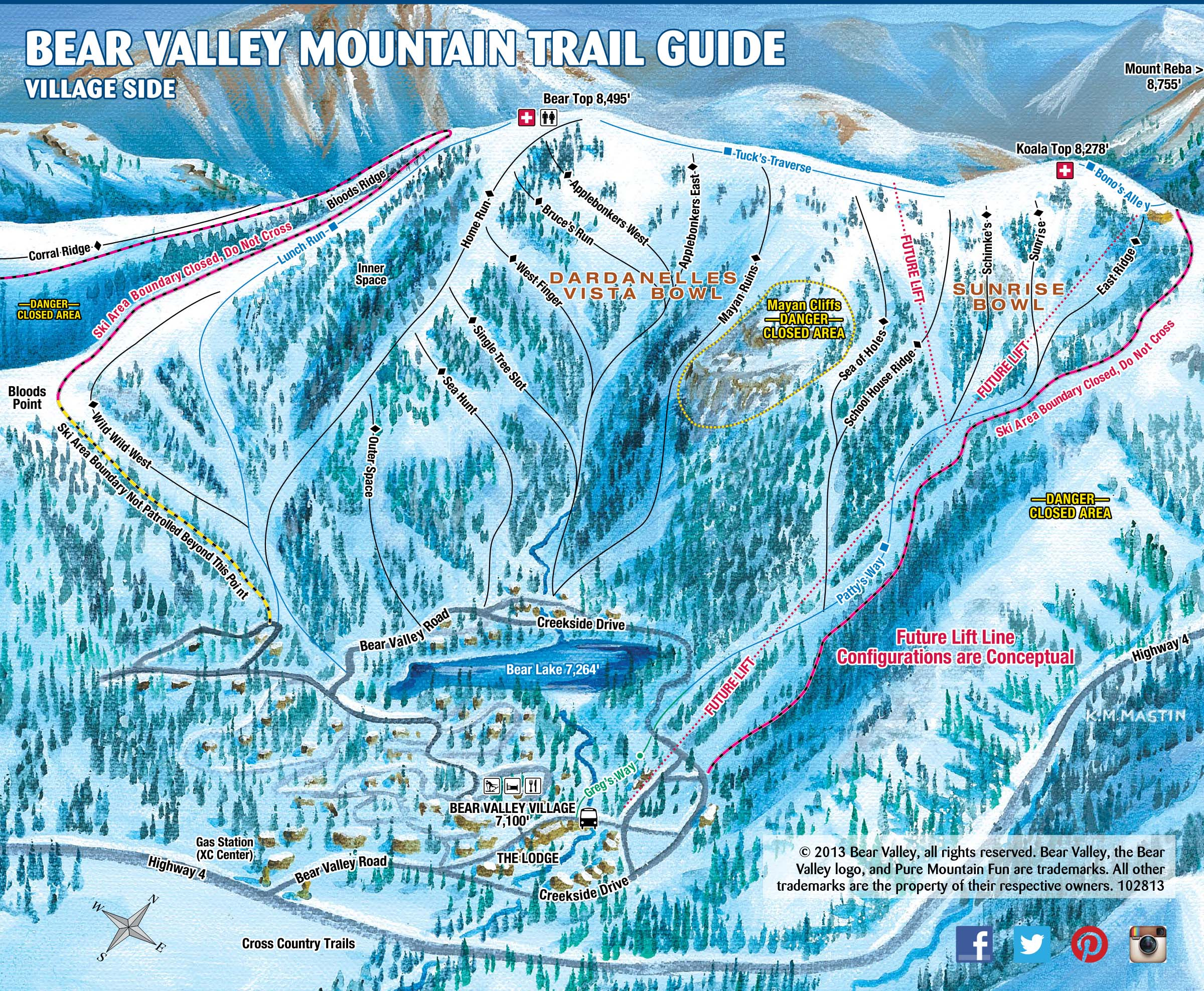 trail map bear valley