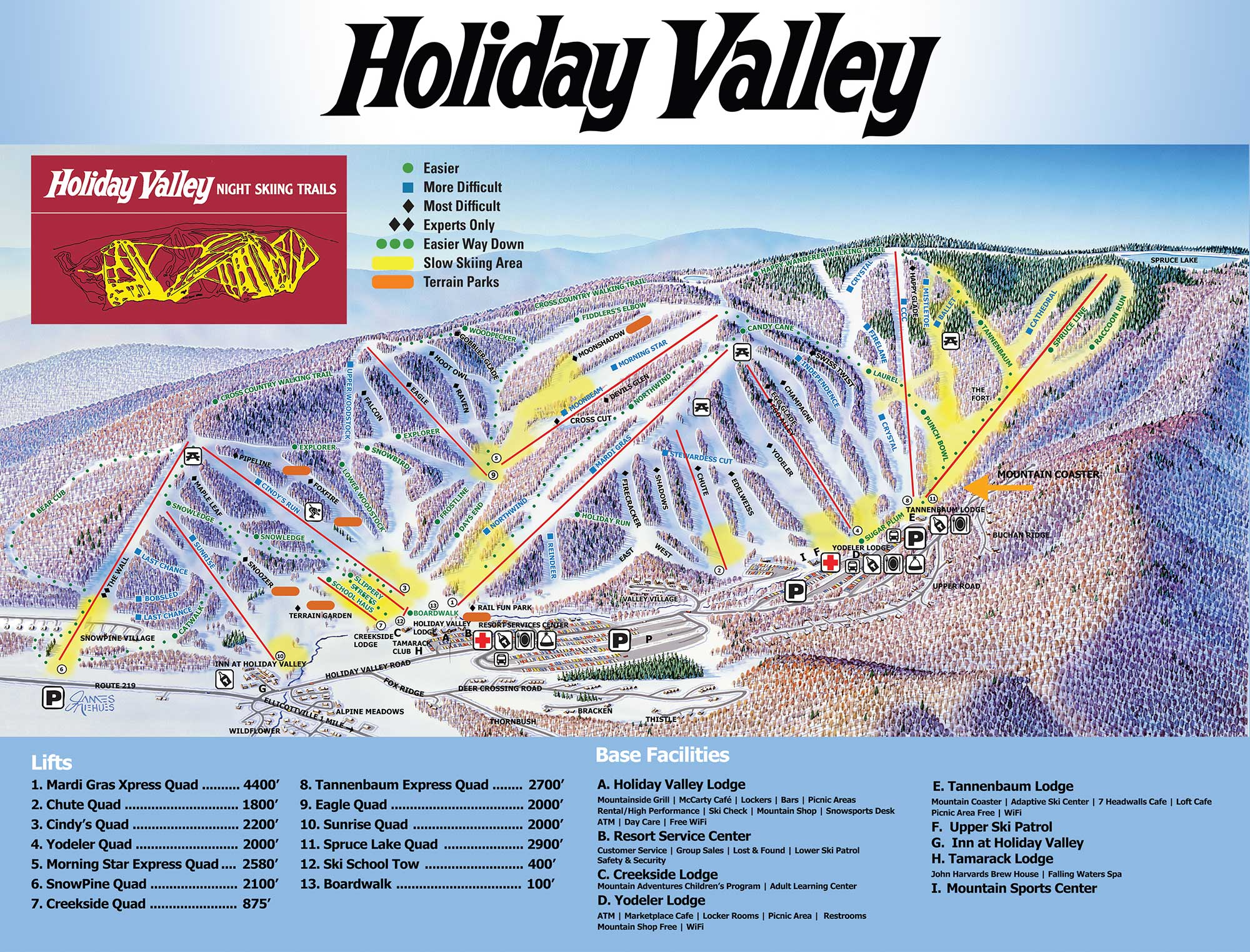trail map holiday valley