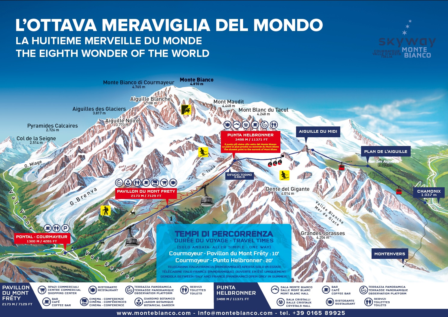 Trail map Monte Bianco Courmayeur