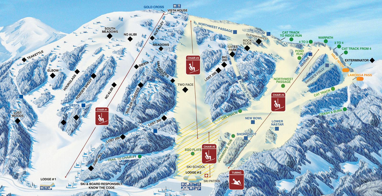 Trail Map Mt Spokane
