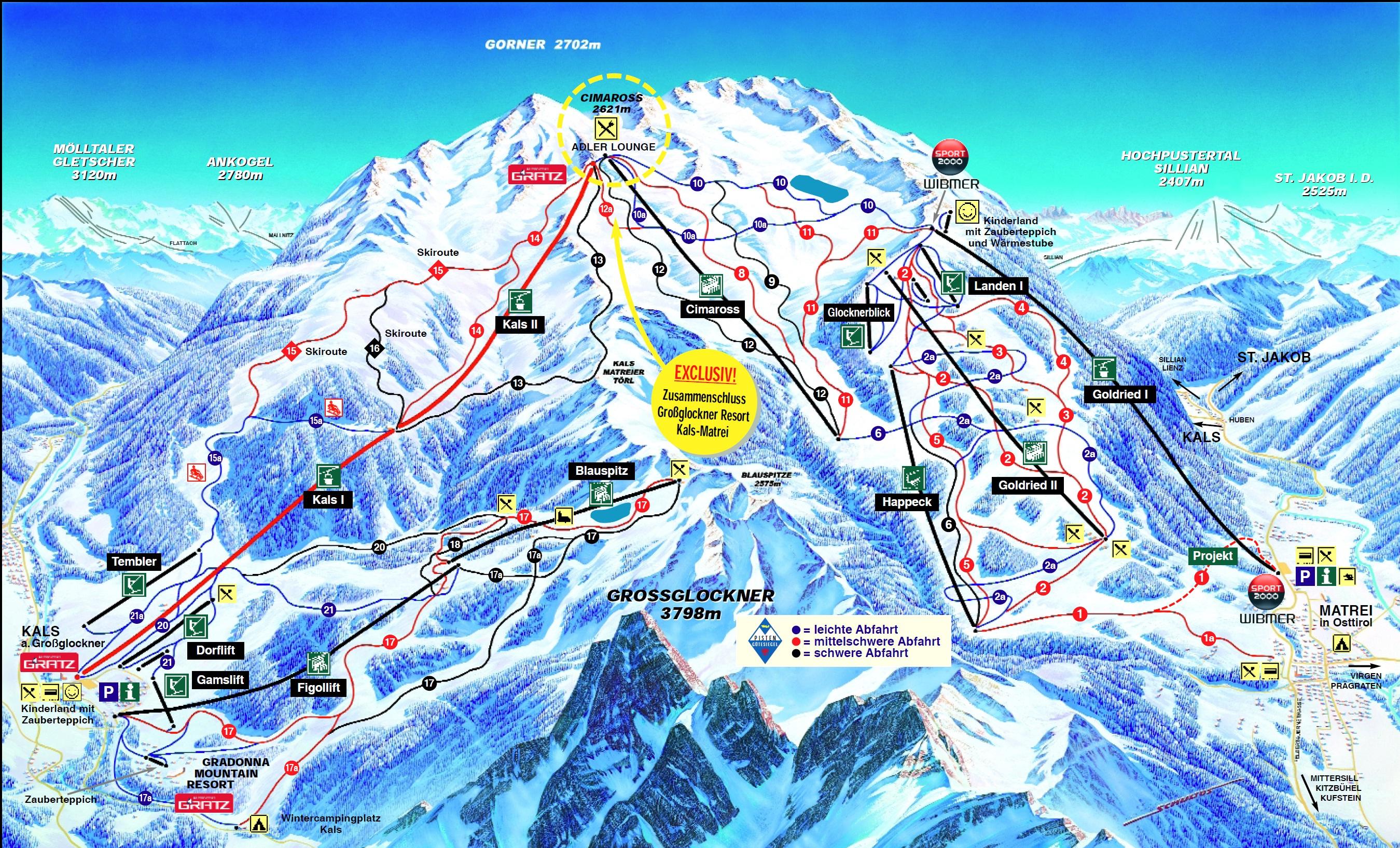 trail map großglockner resort kals-matrei