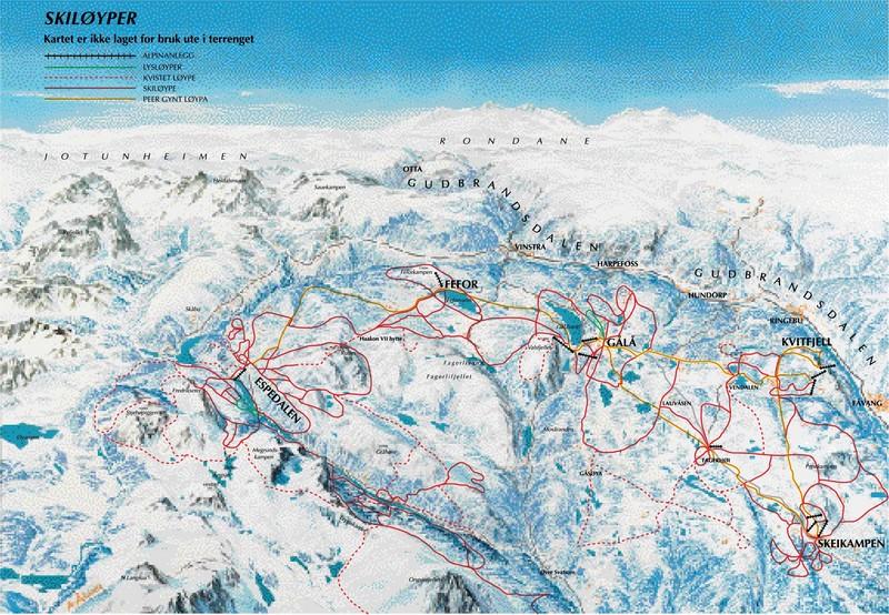gålå kart Cross country skiing Gålå – cross county trails Gålå gålå kart